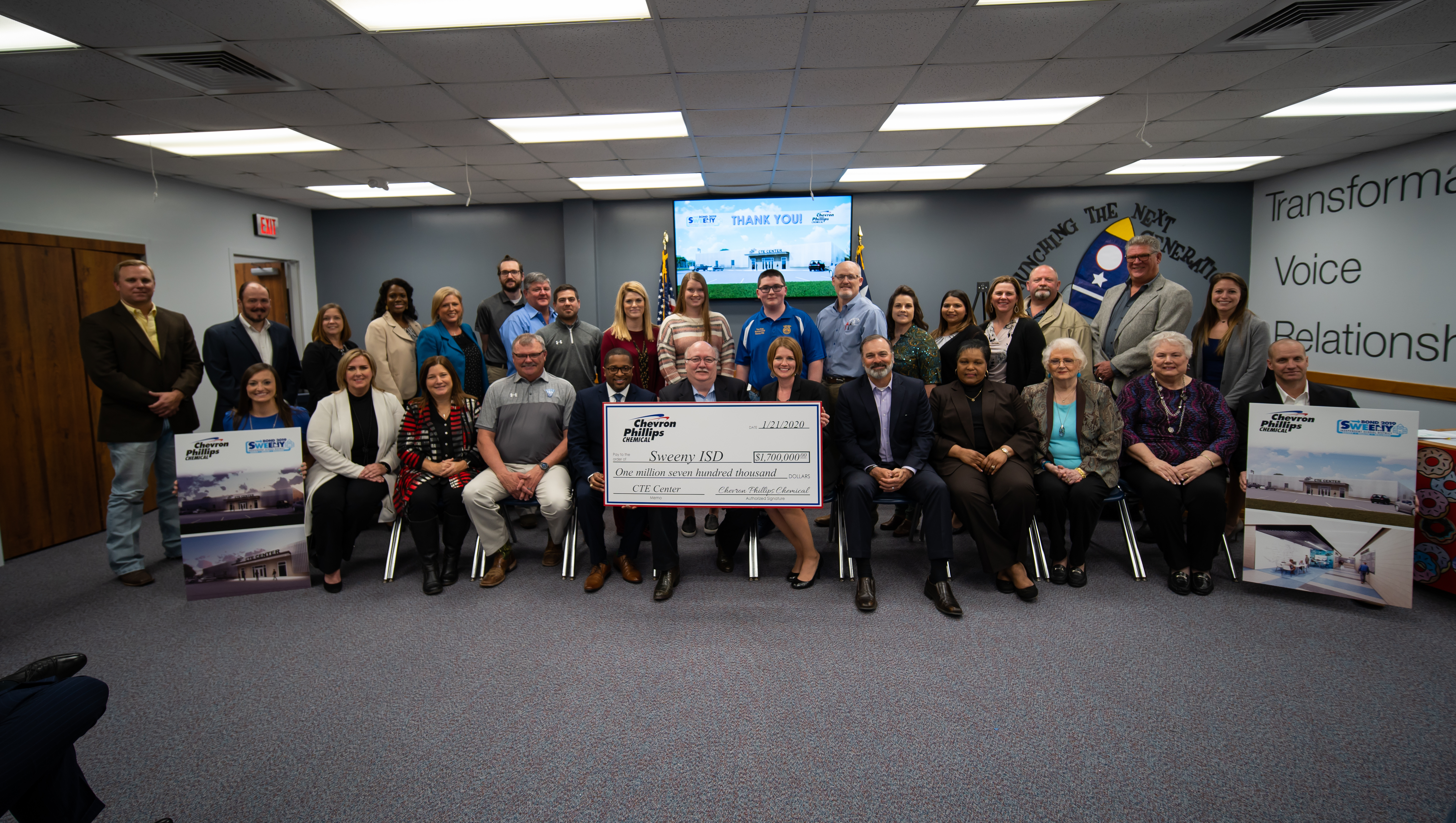 Chevron Phillips Chemical contributes $1.7 million for Sweeny ISD career and technology education center